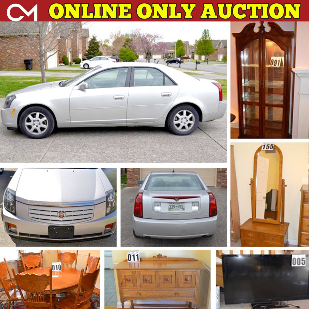 Online, Estate, Auction, Cadillac, Furniture, Appliances, Jewelry, Collectible, Coins, Murfreesboro, Tennessee, For Sale, Buy, Purchase, Shopping, Online, Bid, Comas, Montgomery