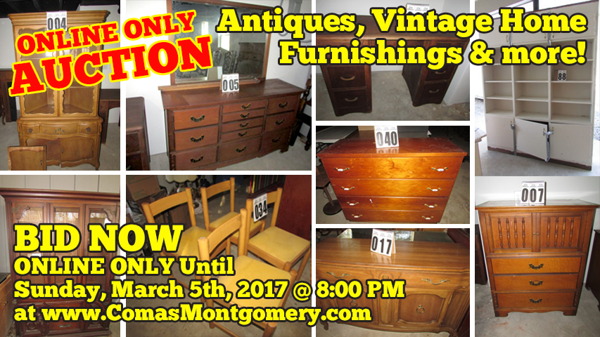 Antiques, Furniture, Vintage, Home, Furnishings, Light, Fixtures, Sink, Decor, Cabinet, Dresser, Bedroom, China, Dishes, Comas, Montgomery, Gallatin, Tennessee, Birdwell, Nashville, Auction, For Sale