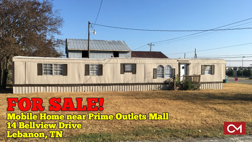 Mobile Home, Trailer, For Sale, Lebanon, Tennessee, Wilson, County, Prime Outlets, Mall, Commercial, Property, Renting, Rental, Income, Investment, Rent, Land, Lot