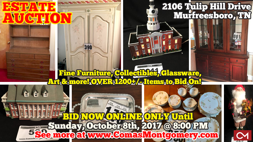 Estate, Auction, Furniture, Housewares, Glassware, Art, Collectibles,  Buyerï¿