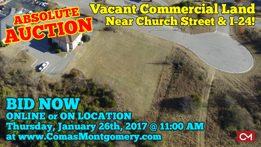 Vacant, Commercial, Land, For Sale, Property, Investment, Murfreesboro, Tennessee, Church, Street, Merchants, Walk, Interstate, 24, I-24, Comas, Montgomery