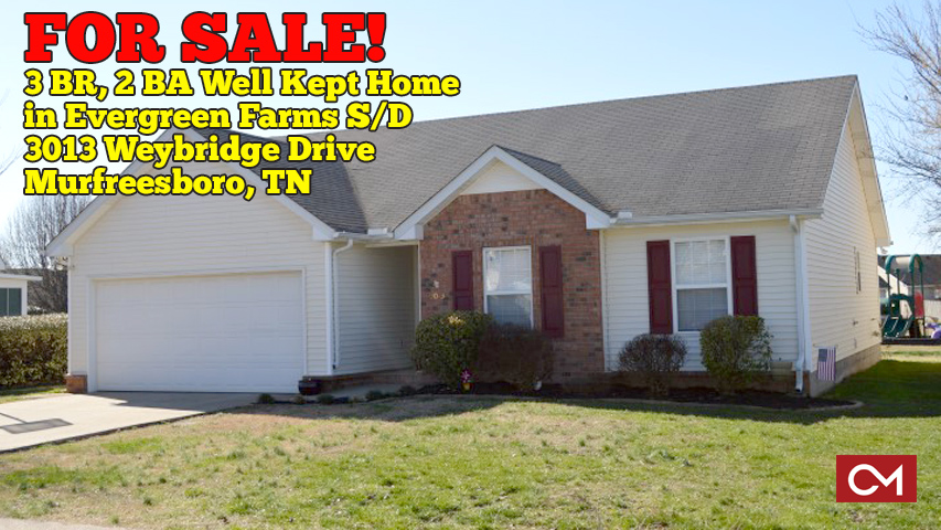 Real Estate, Home, House, For Sale, Murfreesboro, Tennessee, Weybridge, Evergreen, Farms, Comas, Montgomery