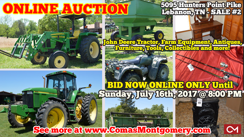 John Deere, Tractor, Combine, Antiques, Furniture, Collectibles, Estate, Sale, Auction, Online, Bidding, Lebanon, Tennessee, Wilson, County, Suddarth, Farm, Equipment, For Sale, 4-Wheeler, Appliances