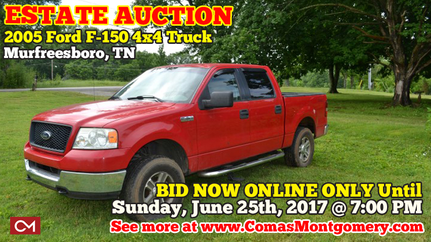 Estate, Auction, Murfreesboro, Tennessee, Truck, Vehicle, Car, Automobile, Ford, F-150, 4x4, Tilford, Used, Trucks, Cars, Automobiles
