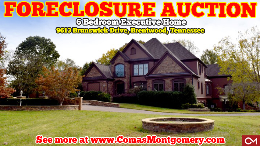 Foreclosure, Auction, Real Estate, House, Home, For Sale, Brentwood, Tennessee, Investment, Flipping, Mansion, Executive, Luxury, Williamson, County, Bonbrook, Subdivision