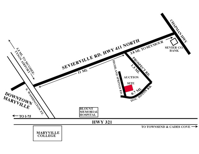 HIGHLAND SPRINGS LOCATION MAP