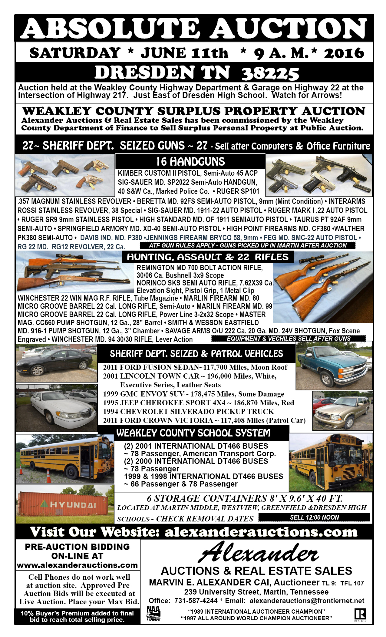 Martin (TN) United States  city pictures gallery : WEAKLEY COUNTY SURPLUS PROPERTY AUCTION LIVE AUCTION in Dresden ...