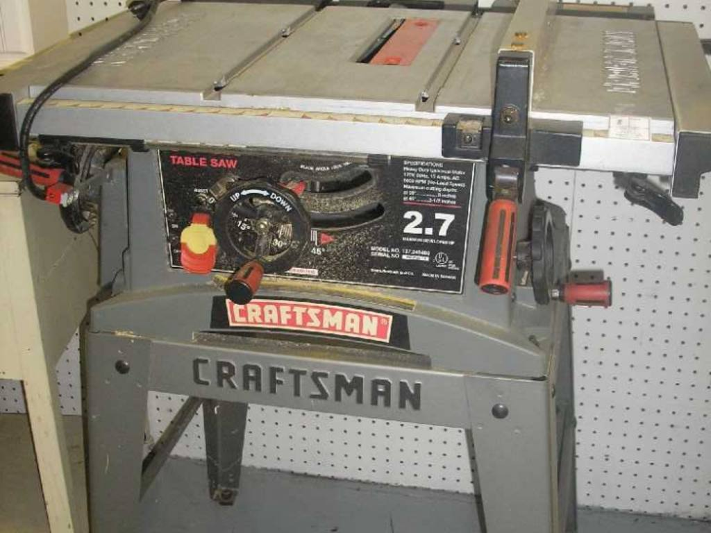Craftsman 10 table saw 2 7hp for 10 in table saw craftsman