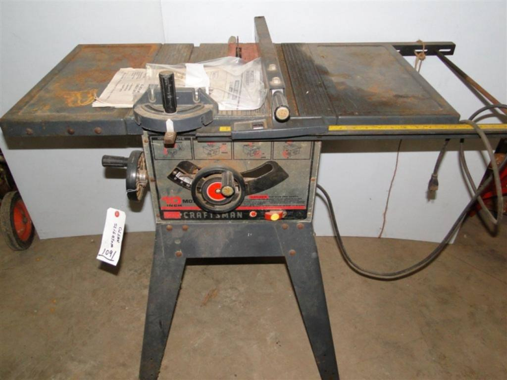 Sears 10 Table Saw Model