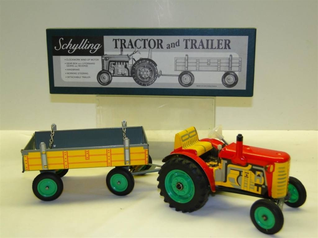 Tractor Trailer Keys : Schylling tractor and trailer wind up