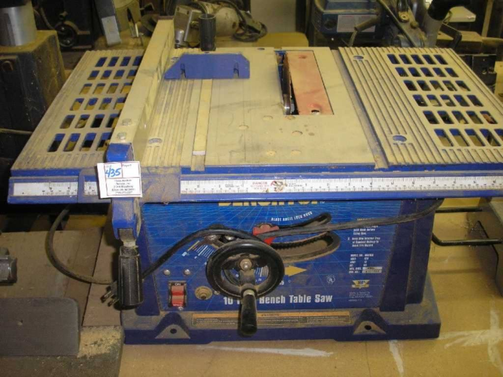 Bench Top 10 Bench Table Saw Model Bts10b 120v