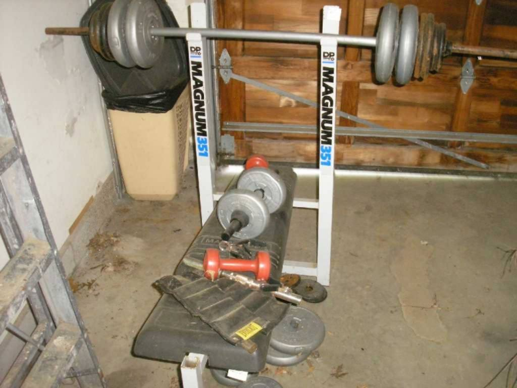 Magnum 351 Dp Fit For Life Weight Bench With Bar And