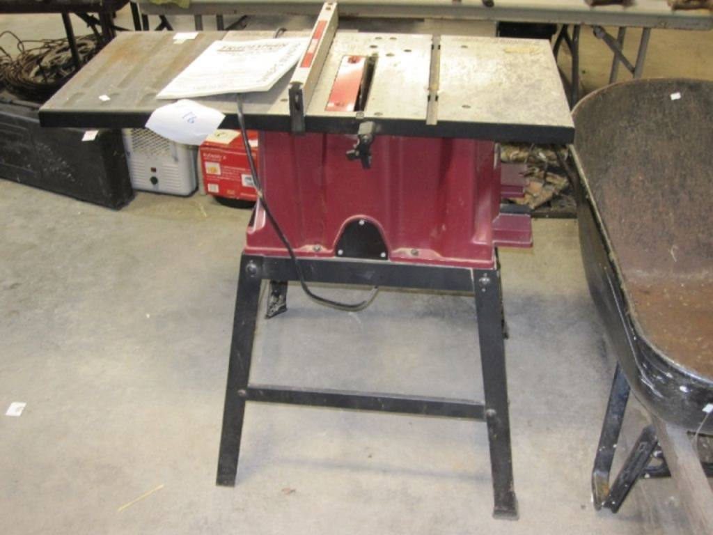 Tradesman 10 Table Saw With Stand And Fence Model 8032