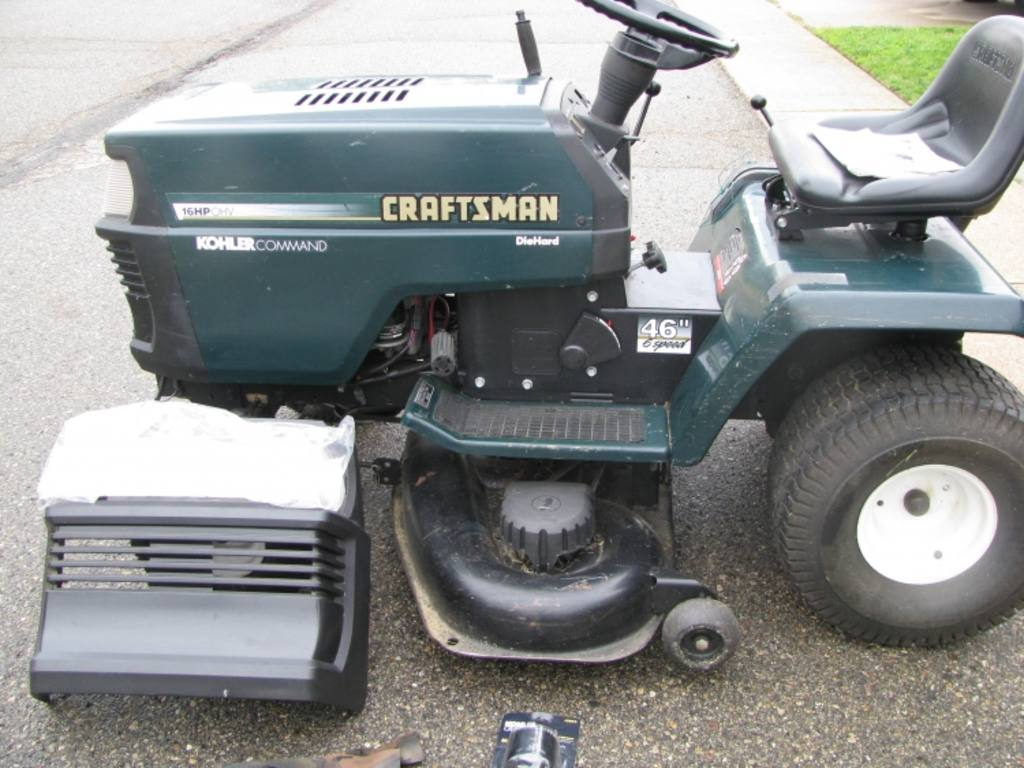 Sears Craftsman Model 917 Mower : Sears craftsman ez hp riding lawn mower model