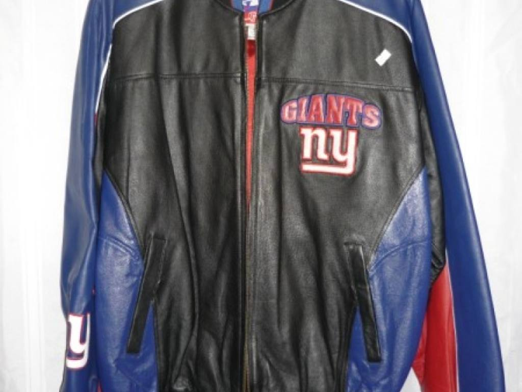 NFL New York Giants Leather Jacket - GIII Sports and Carl Banks 100% Leather shell, new with tags - Size M