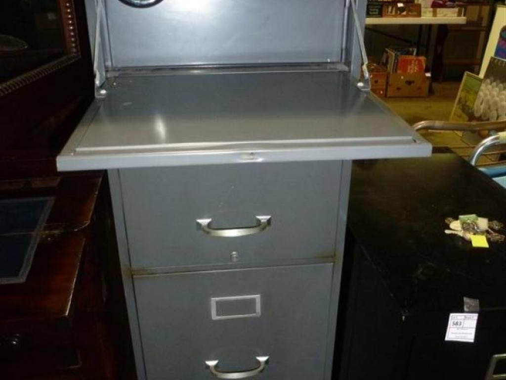 1 cole steel company 4 drawer file cabinet with hidden safe in top no key or combination. Black Bedroom Furniture Sets. Home Design Ideas
