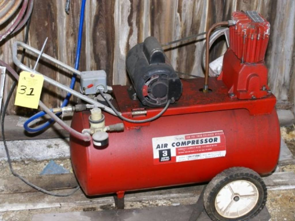Sears 150 Psi Twin Cylinder Air Compressor With 3 Hp Motor