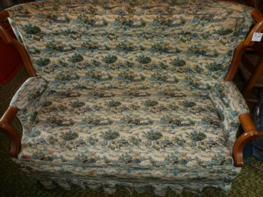 Vintage upholstered rocking loveseat by maxwell royal