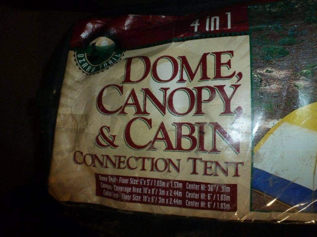 1 Ozark Trail Dome Canopy Amp Cabin Connection Tent In Bag