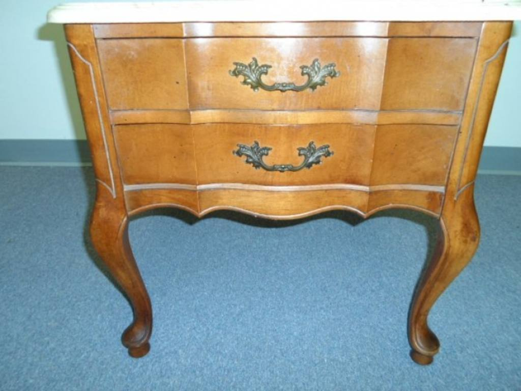 Marble Top End Table Hammary Furniture Co Queen Anne