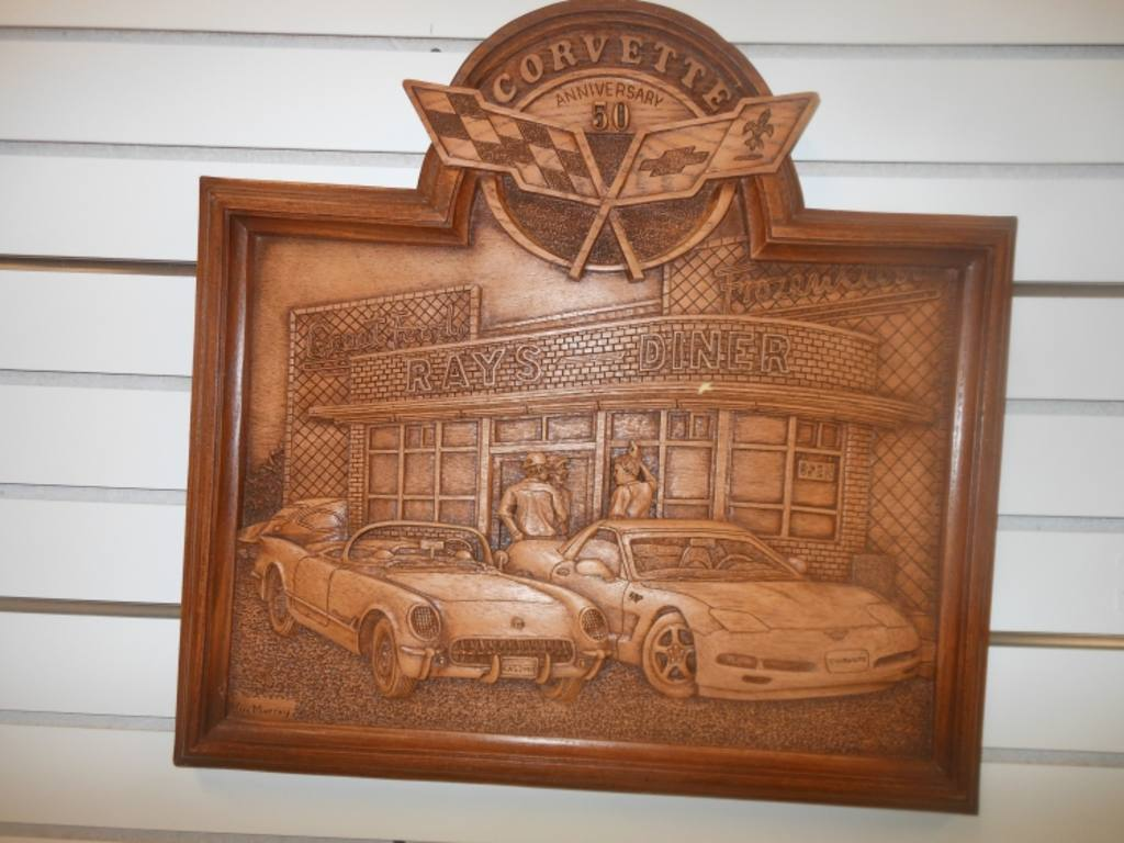 Kim murray corvette wood carving and thom sansoucie
