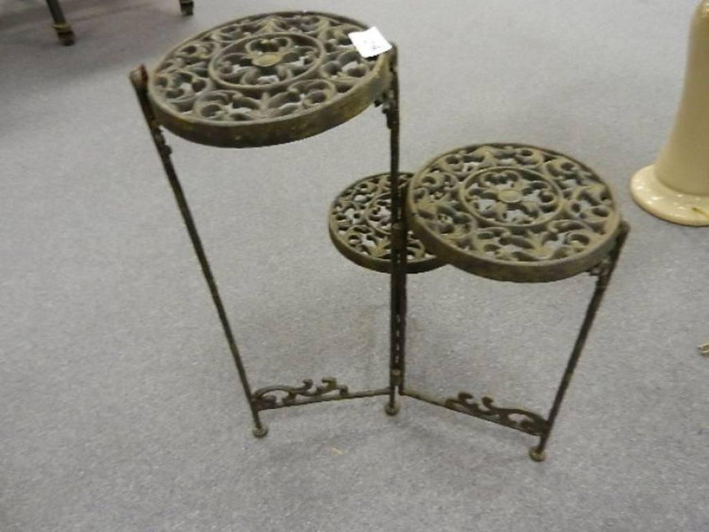 3 Tier Iron Plant Stand 2 Ft Tall