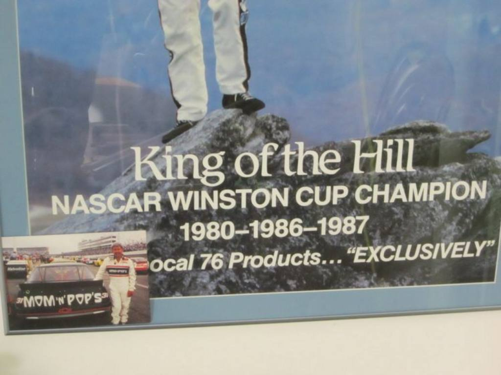 Dale Earnhardt Autographed King Of The Hill Poster 26 Quot X 38 Quot