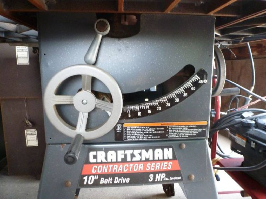 Craftsman contractor series 10'' belt drive table saw, 3hp ...