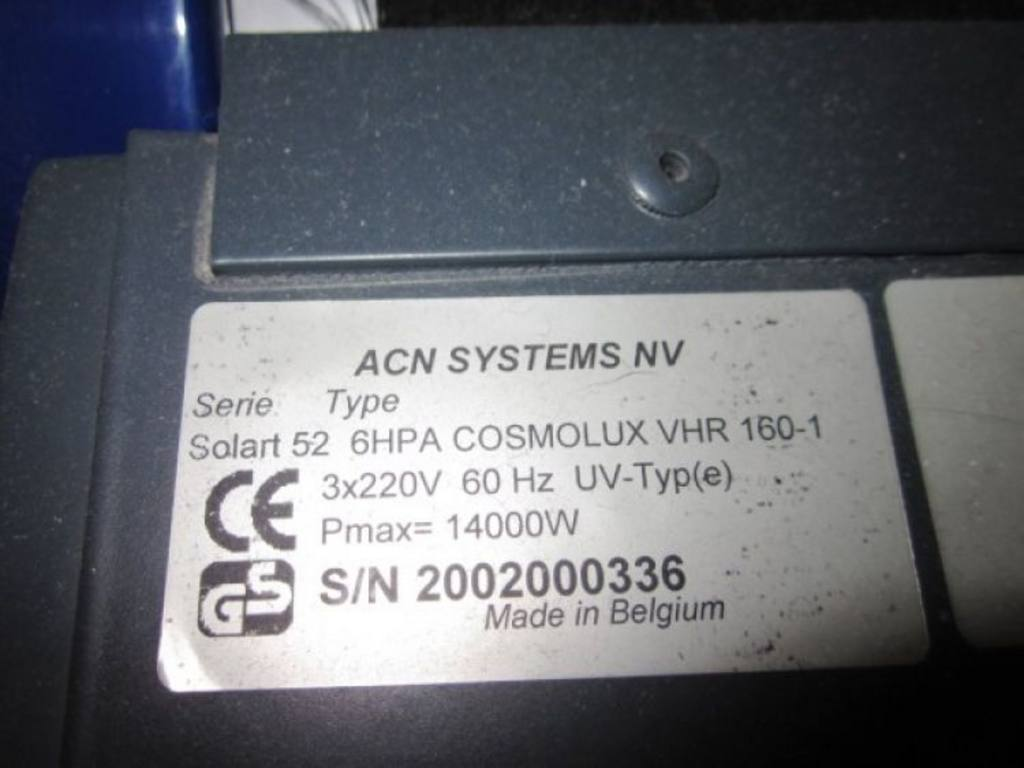 Acn systems solart 50 tanning bed xl52 6 for Salon liquidation