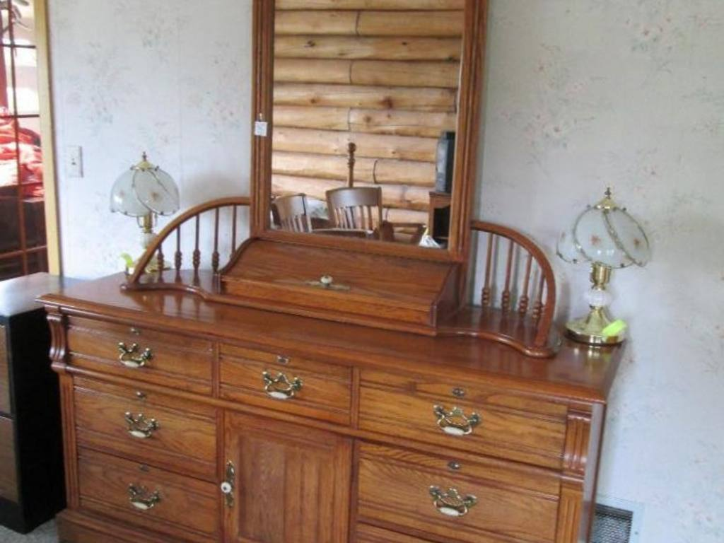 Lexington Recollections Oak Dresser With 48 39 39 H Mirror 9 Drawers 64 39 39 X 19 39 39 X 33 39 39 H Matches
