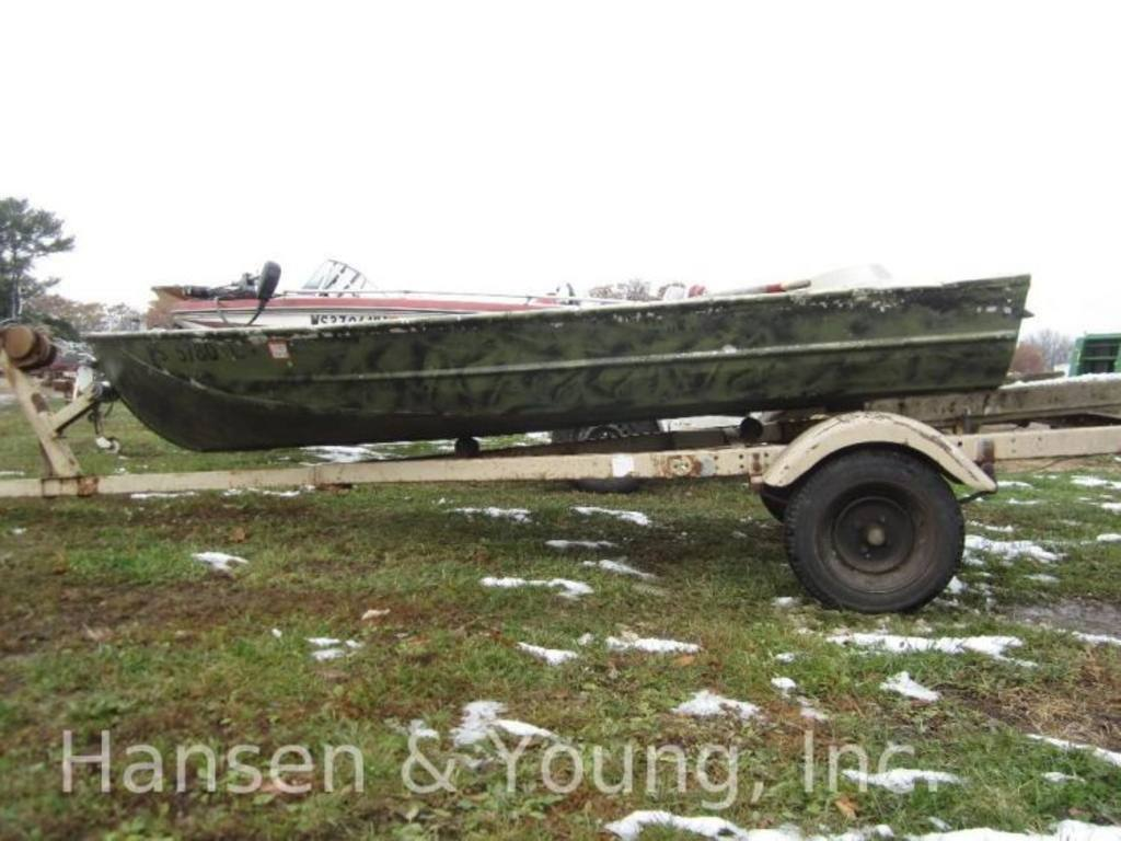 12 Ft Montgomery Wards Sea King Jon Boat With Trailer