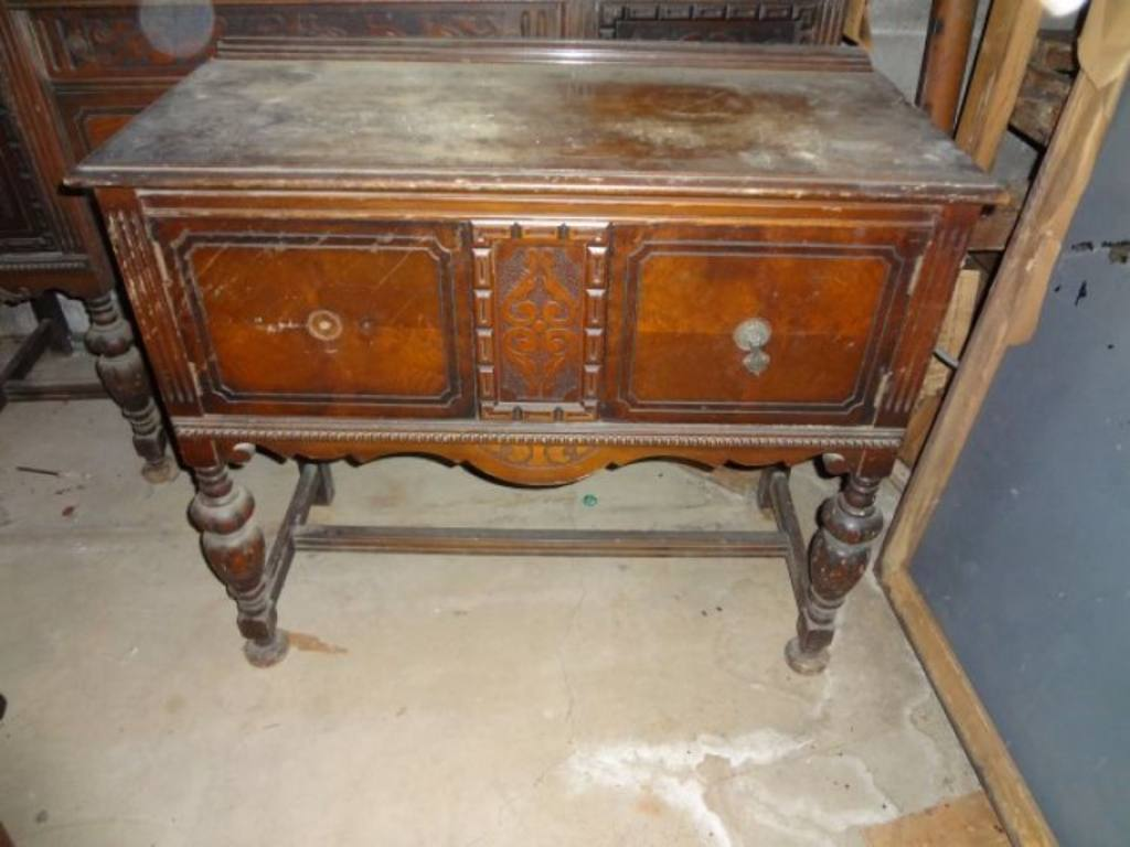 dining room set detailed china cabinet buffet side table