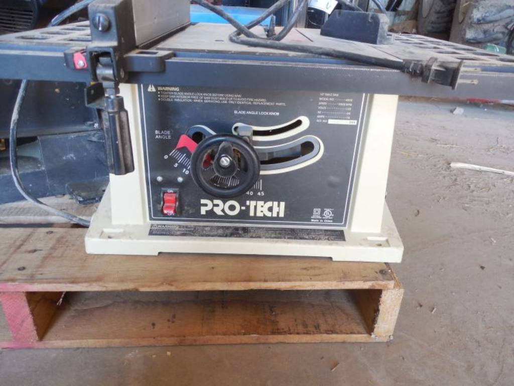 Pro tech table saw Pro tech table saw