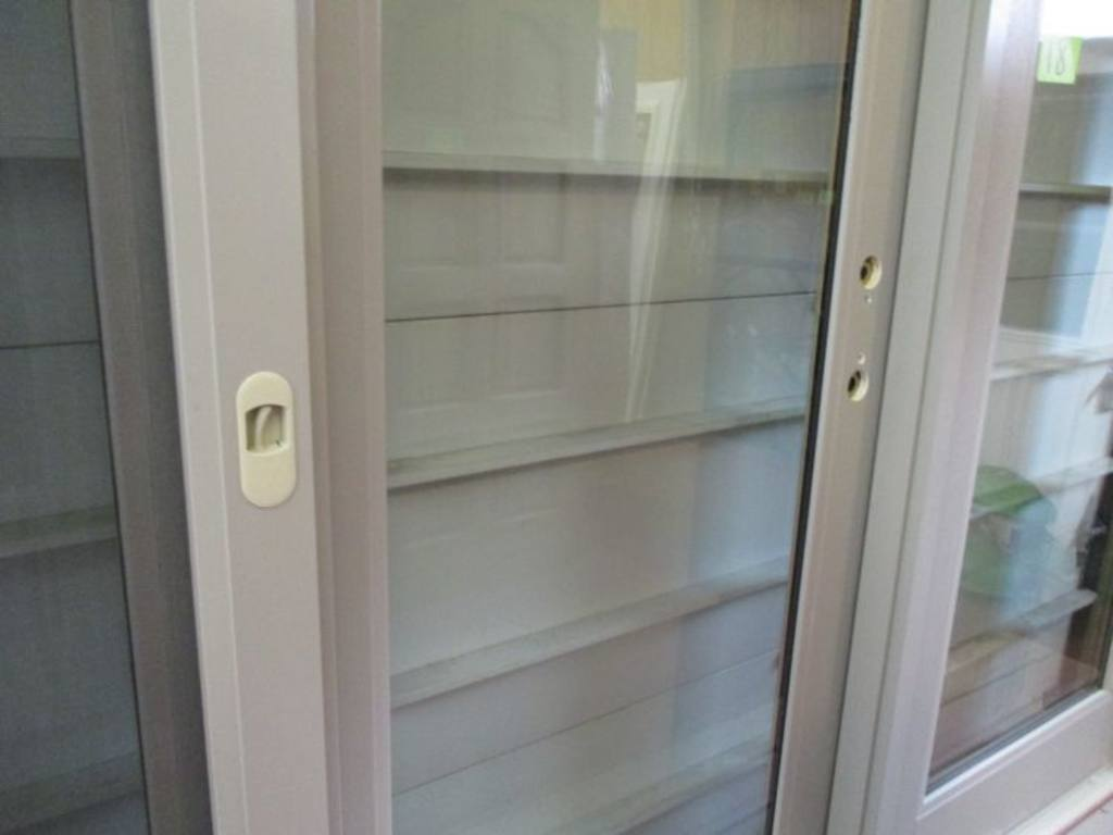 768 #4E6A7D Peachtree 9 Foot Fiberglass Sliding Patio Door With Hardware image Peachtree Entry Doors 46831024
