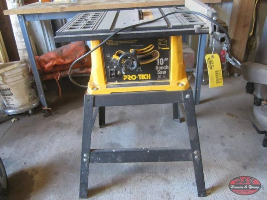 Pro tech 10 bench saw Pro tech table saw