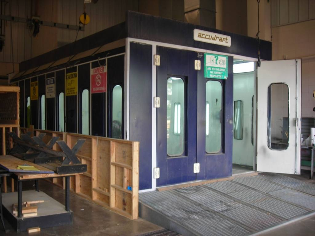 saima accudraft 2001 automotive paint booth